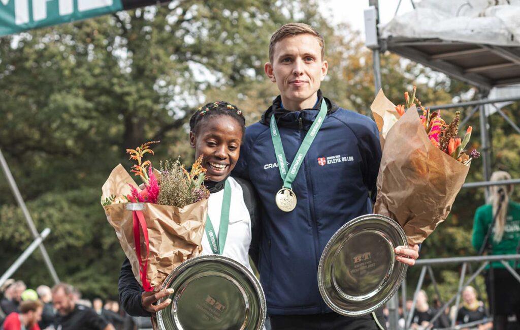 Sylvia Kiberenge og Jakob Dybdal vinder Eremitageløbet 2021